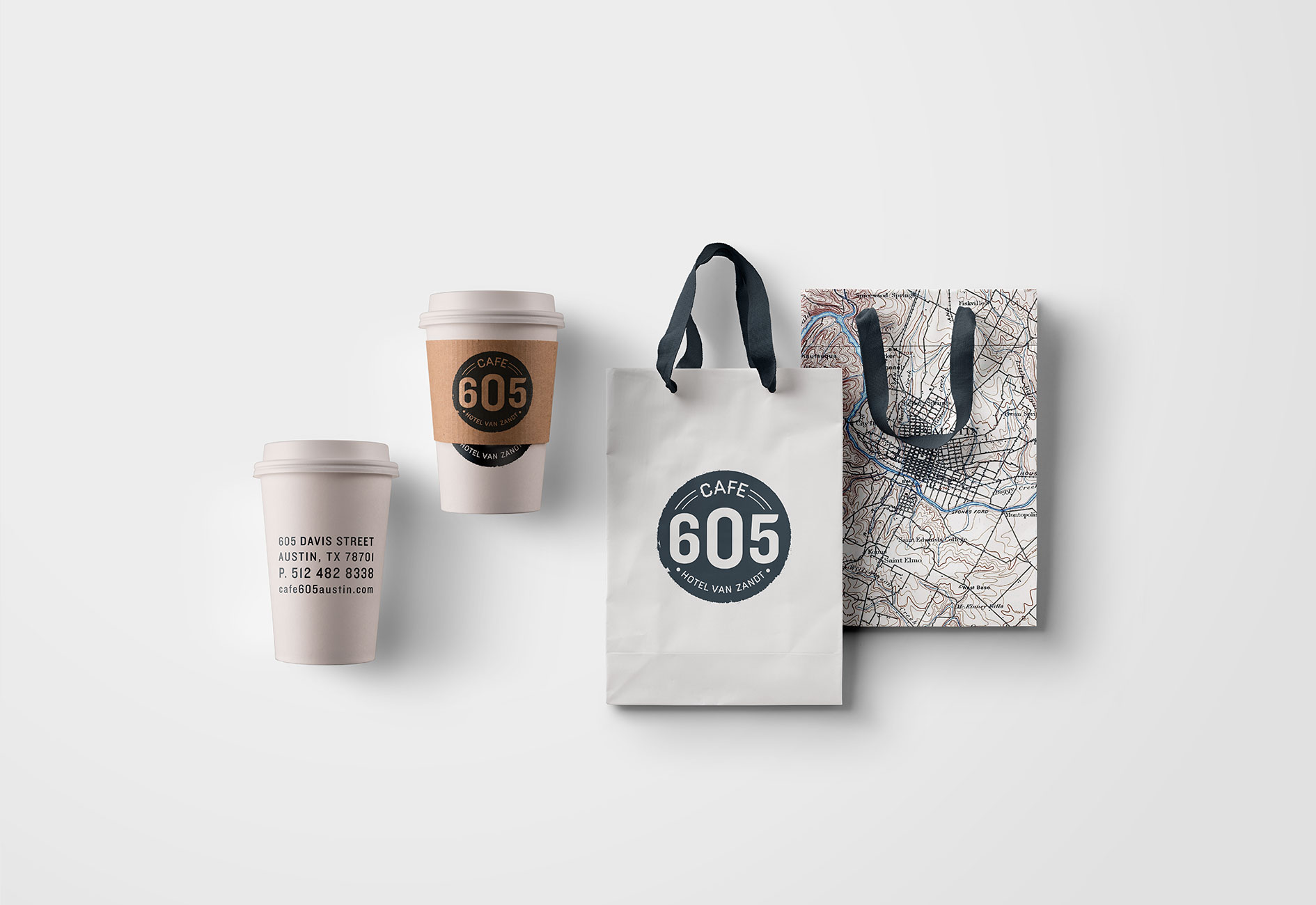 CAFE 605 BRANDING by Mark Zeff Design