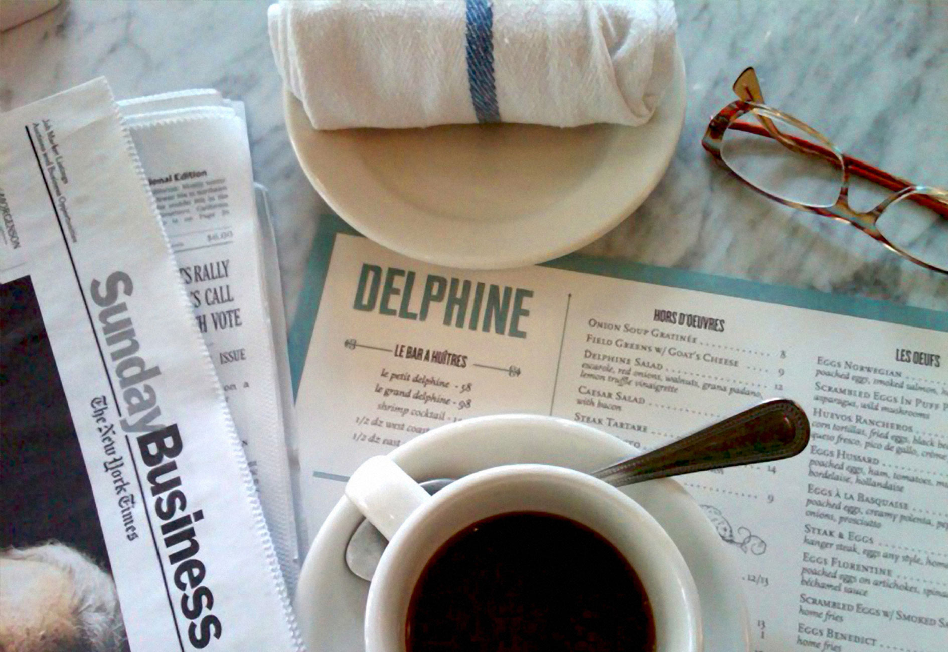 DELPHINE EATERY & BAR BRANDING by Mark Zeff Design